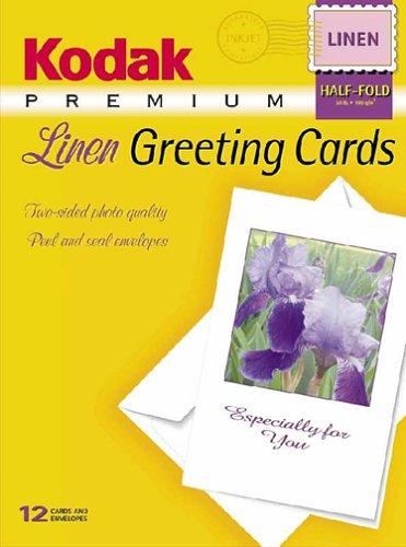 Kodak 8974313 Premium Inkjet Linen Greeting Cards