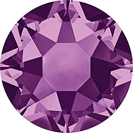 2000, 2038 & 2078 Swarovski Flatback Crystals Hotfix Amethyst | SS8 (2.4mm) - Pack of 100 | Small & Wholesale Packs