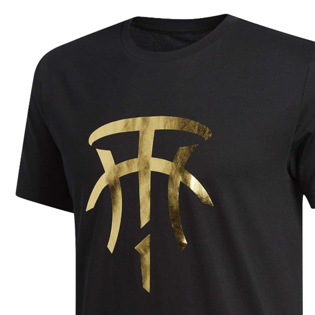840968186259 adidas T-Mac Logo Tee - Men s Basketball Black at Amazon Men s Clothing  store