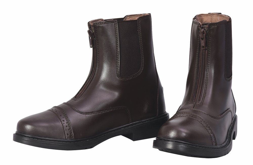 TuffRider Women's Starter Front Zip Paddock Boots, Mocha, 6