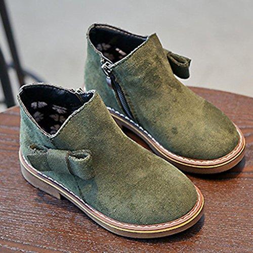 Hunpta Kinder Mode Jungen Mädchen Martin Sneaker Winter Dicken Schnee Baby Freizeitschuhe Grün