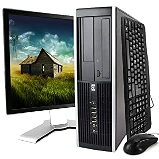 HP Desktop Computer, Core 2 Duo 3.0 GHz Processor, 4GB, 160GB, DVD, WiFi Adapter, Windows 10, 19in LCD Monitor Included (Brands may vary) (Renewed)