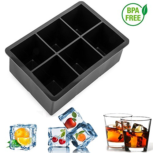 - Ice Cube Trays Flexible Silicone Square Ice Molds for Whiskey Drinking, FDA Approved Food-Grade by Bseen