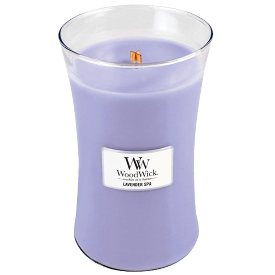 Woodwick Candle, Large, Lavender Spa 21.05oz by WoodWick