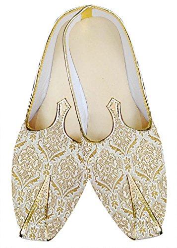 Inmonarch Zapatos De Boda En Crema Y Dorado Para Hombre Mj014882