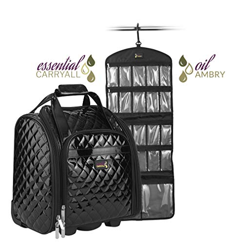 Essential Oil Bag | Essential Oil Storage | Clear Pockets | Holds Diffuser & Oil Kit | Essential Oil Case for Travel | Organize Bottles | Essential Oil Demo ()