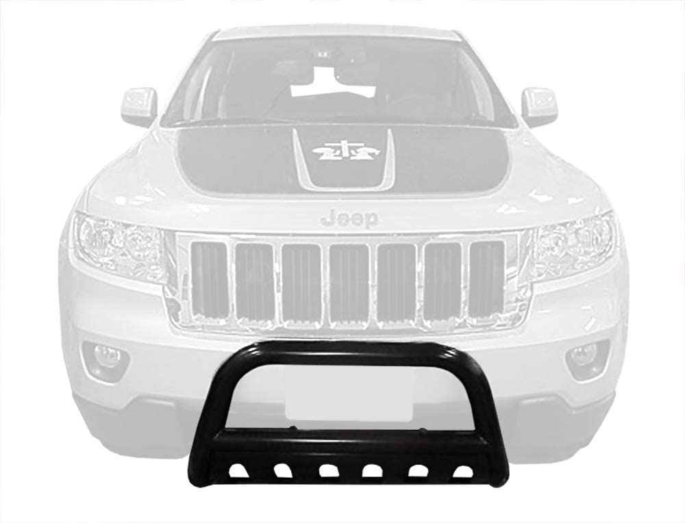 Excl. SRT, Trail Hawk, and Models w//Active Cruise Control Tyger Auto Custom Fit 2011-2017 Jeep Grand Cherokee Black Grille Bumper Guard Bull Bar