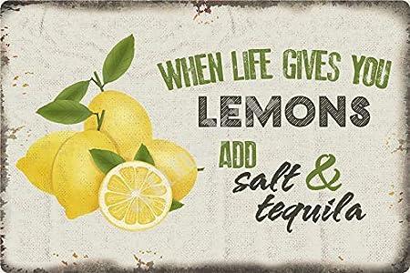 """If Life Give You Lemons Make Lemonade Beer Round Metal Tin Sign 12/"""""""