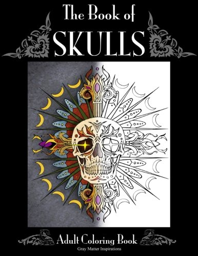 Book of Skulls: Adult Coloring Book