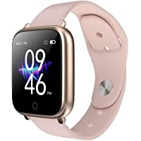 Smart Watch, DIY Full Touch Screen Smart Watch for Man Woman with Heart Rate & Sleep Monitor, IP68 Waterproof, 18 Sports…
