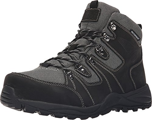 Drew Men's Trek Waterproof Boot Black Nubuck 14 W US ()