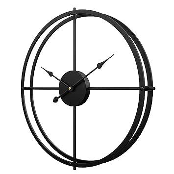 Jo332Bertram Reloj de Pared Grande, XXL Estilo Vintage Reloj de Pared de Hierro 60cm Reloj de Pared Silencioso para Hogar Decoración - Negro: Amazon.es: ...