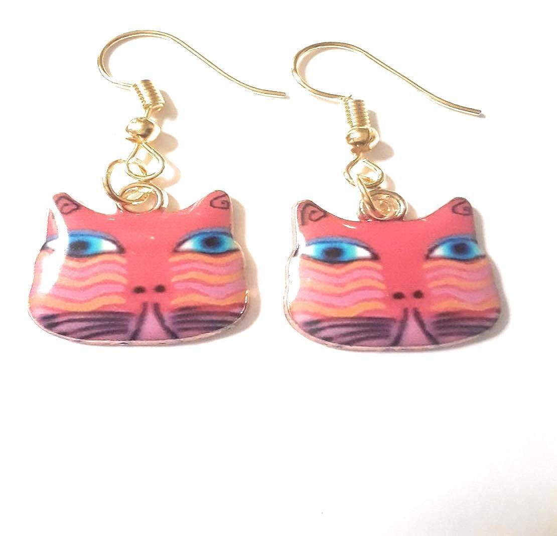 Marcella Handmade Beautiful Cat Dangle Drop Earrings