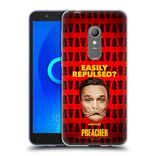 Official Preacher A Face Season 3 Character Art Soft Gel Case for Alcatel 1X (2018)