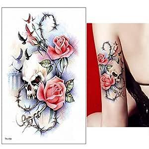 3 Piezas Tatuaje niño Manga Tatuaje Negro Grande Tatuaje Pegatina ...