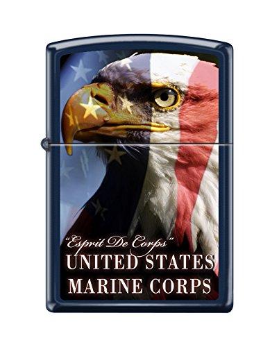 Zippo USMC Bald Eagle Navy Matte Pocket Lighter