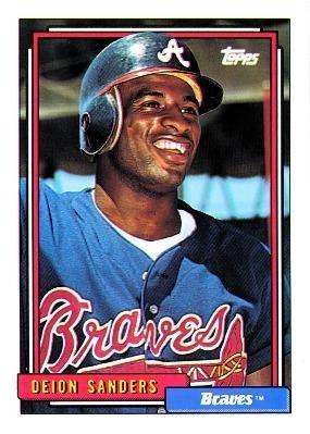 1992 Topps 645 Deion Sanders Atlanta Braves Baseball