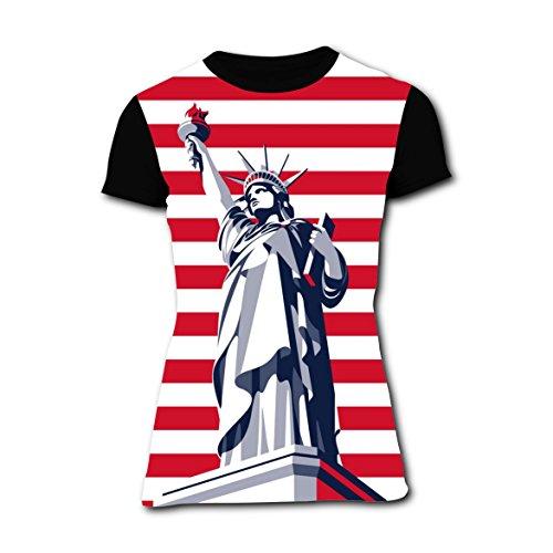 [Statue of Liberty Women's Tee Everyday Crew Neck Short-Sleeve Girl T-shirt L] (Statue Halloween Costume Ideas)