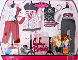 BARBIE LET'S SHOP FASHIONS w RED, WHITE & BLACK Color OUTFITS & SHOES (2007)