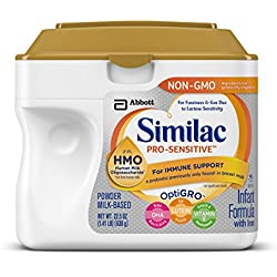 Similac Pro-Sensitive Non-GMO Infant Formula with Iron, 22.5 ounces (Single Tub)