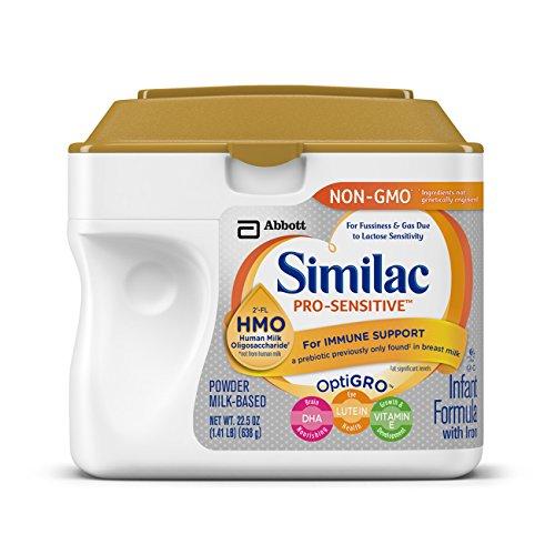 Color Treated Formula (Similac Pro-Sensitive Non-GMO Infant Formula with Iron, with 2'-FL HMO, For Immune Support, Baby Formula, Powder, 22.5 ounces (Single Tub))