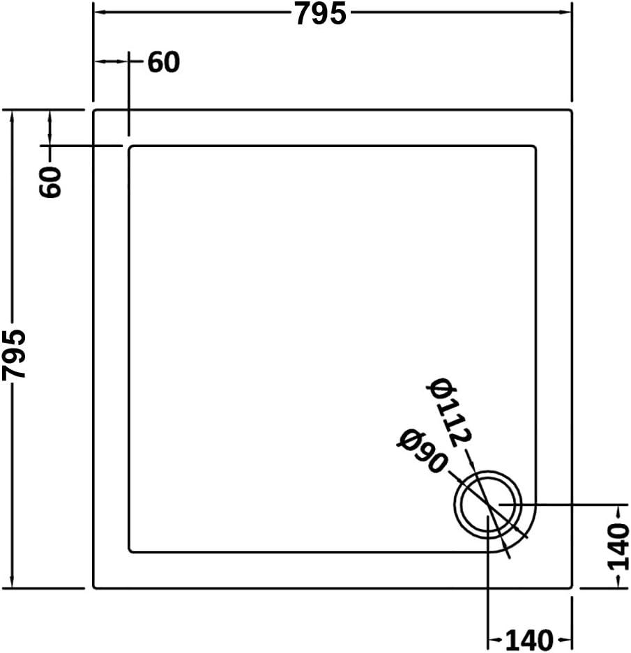 1000 mm Bifold Shower Cubicle Door Reversible Folding Glass Shower Enclosure
