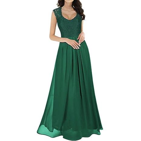 Amazon.com: Dacawin - Vestido largo de gasa para damas de ...