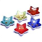 Kutani Yaki Ceramic 5 Piece Chopstick Rest Set Gold Leaf
