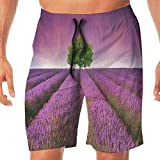 Haixia Mens Summer Swim Trunk Lavender Garden is A Sacred Place for Wedding Pho