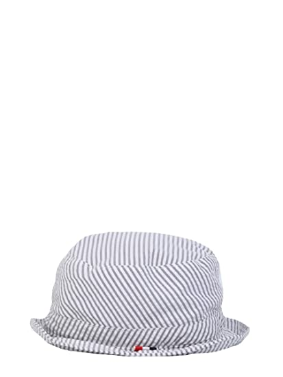 f04e2030714 Thom Browne Men s Mhc299a00572035 Grey Cotton Hat  Amazon.co.uk  Clothing