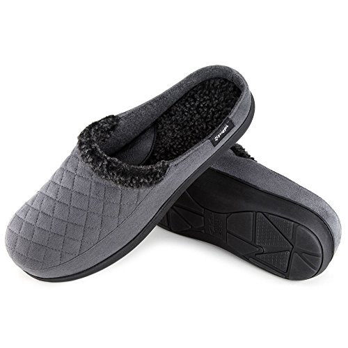 Zigzagger Men's Suede Fabric Memory Foam Slippers Slip On Clog House Shoes Indoor/Outdoor by Zigzagger (Image #5)