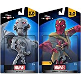 Marvel Infinity Super Hero Bundle 3.0 Avengers Vision Character Figure & Ultron Hero & Villain combo Pack