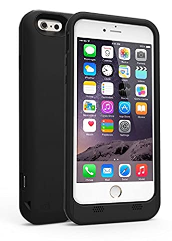 SuperSonic IQ-BOOST All-in-One Protective Case and Stand with Ultra Slim, 3,500mAh Charging Dock for iPhone 6 and iPhone 6S, Black