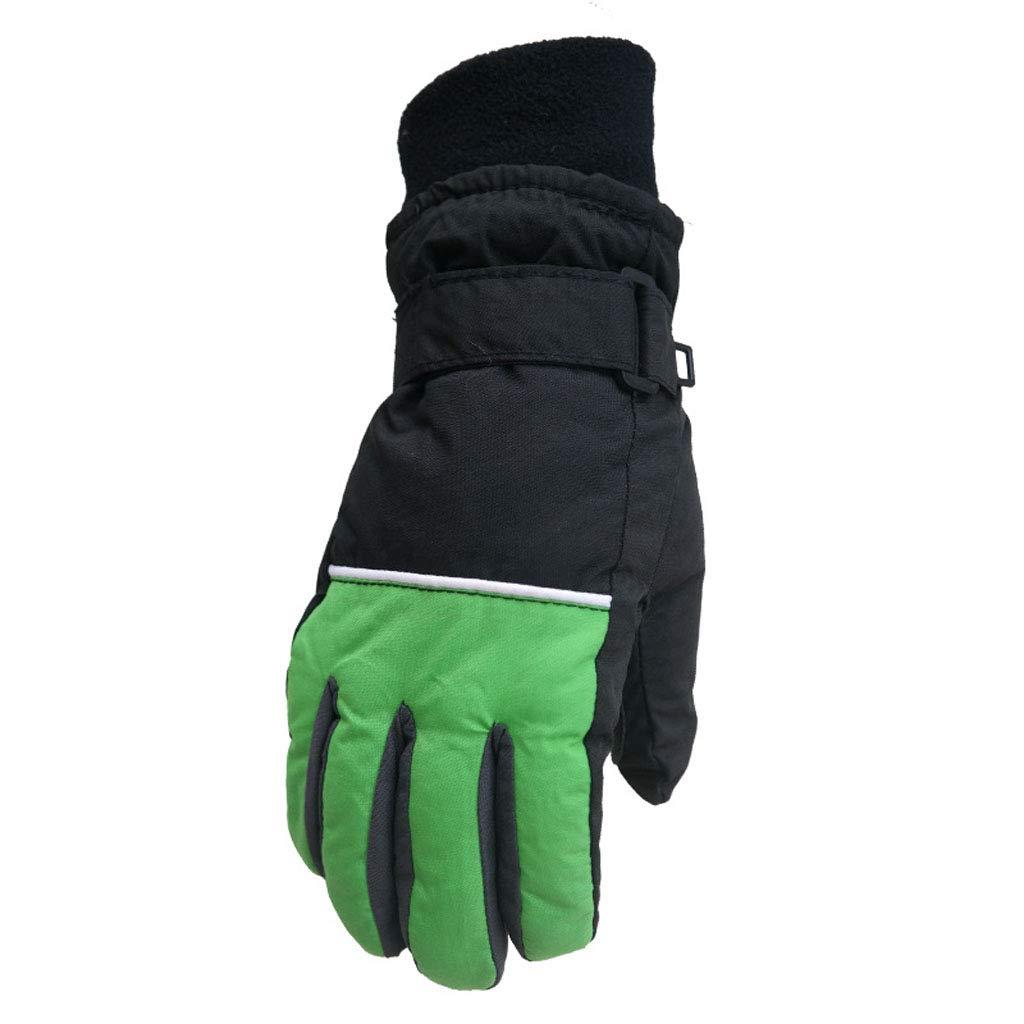 Gants Ski Enfant Moufles Ski Chaud Imperm/éables Gants Coupe-Vent Manyo Gants Chauds dhiver Camping Randonn/ée Ext/érieur 5-12 Ans