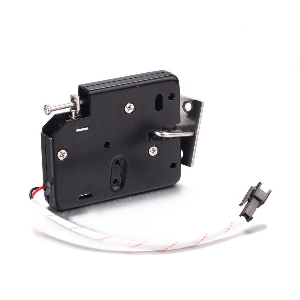 1Pcs DK02 Plastic Black Smart Electromagnetic Lock DC 12V Electric Control Door Locks Express Cabinet Lock