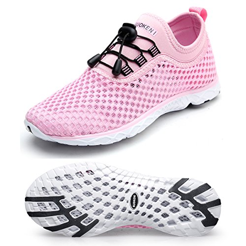 Hongyao Womens Water Shoes With Net Surface Quality Breathable Athletic Sport Lightweight For Walking Pink 6 5 D M  Us