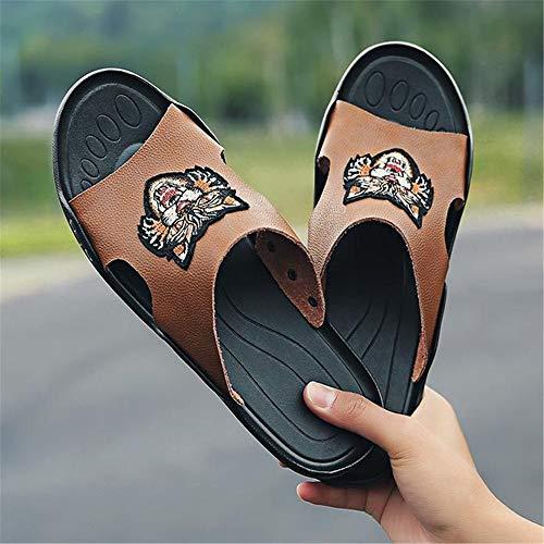 Wagsiyi Scarpe Pantofola Libero 41 EU 3 Il Da Pantofole 1 pantofole Per Pantofola Uomo Marrone spiaggia Dimensione da Marrone Spiaggia Colore Traspirante Tempo Da Estivo FFxO6wrq