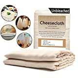 Cheesecloth /63 Sq Feet: Grade 90-100% Unbleached Cotton - Reusable All Purpose Food Strainer & Cold Brew Coffee Filter - Nut Milk Bag (7 Yards)