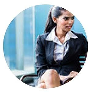 alfombrilla de ratón Mujer de negocios indio que trabaja con el ordenador portátil - ronda - 20cm