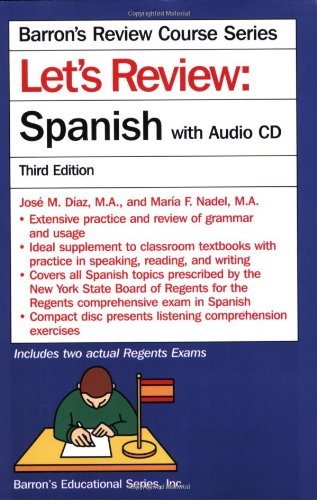 Let's Review Spanish with Audio CD (Let's Review Series) by Brand: Barron's Educational Series