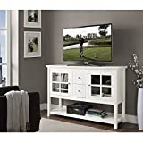New 52 Inch Wide White Wood Tv Console-35 Inches Tall