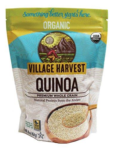 Village Harvest Organic Quinoa, Premium Whole Grain - 16 oz (Flakes Quinoa Organic)