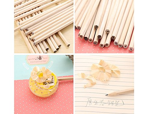 Pupils are environmentally friendly, non-toxic, six corner bar pencils, children's logs, and pencil writing are easy to cut (100pcs).