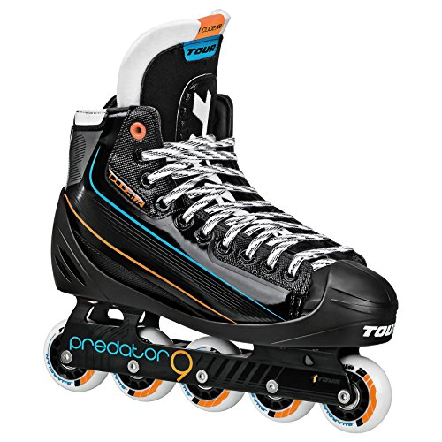(Tour Hockey Code 72 Inline Goalie Skate, Black, 10.5)