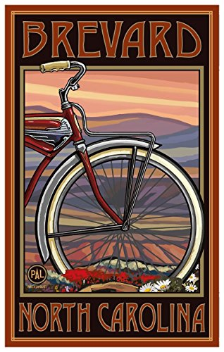 Brevard North Carolina Old Half Bike Travel Art Print Poster by Paul A. Lanquist (12