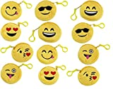 Emoji Coin Bag 12 Pack Set. This Mini Purse comes with different Emotions and Expressions! Cool item to Have! Fun Emoji Faces,Toy Party Favors, Fun Emoji Face, Fun Pass Time Toy Bag
