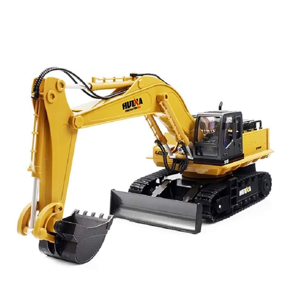 LXWM RC Excavadora 15CH 2.4G 1:16 RC Excavadora De Metal De Carga RC Car con Batería RC Alloy Crawler Kids Toy Cars