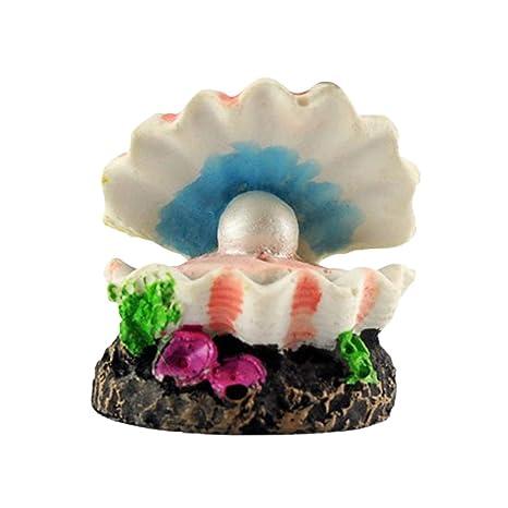 uu19ee Forma del volcán Forma de Concha de Perla Acuario Acuario decoración Bomba de oxígeno Burbuja