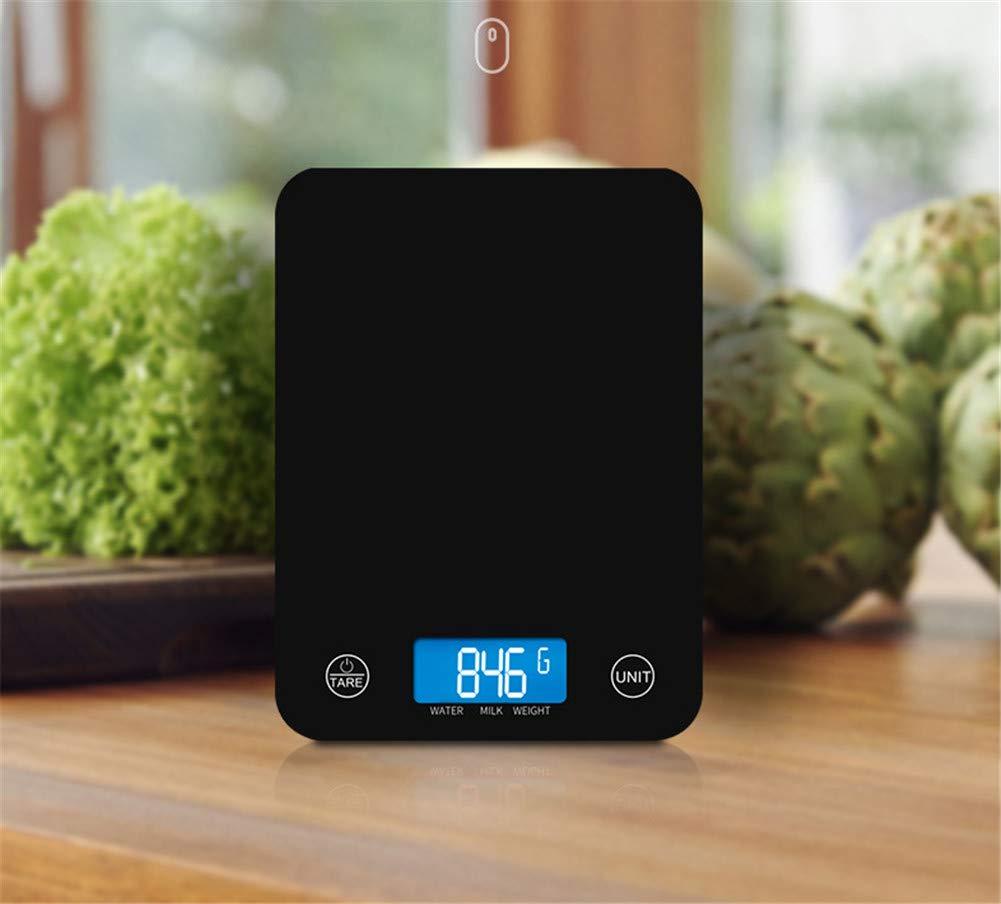 Kitrack Escala De Cocina Digital Escalas De Comida De Vidrio Templado ElectróNico 11lb / 5kg,White: Amazon.es: Deportes y aire libre