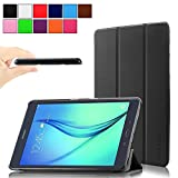 Infiland Samsung Galaxy Tab A 9.7 case, Ultra Slim Tri-Fold Case Smart cover for Samsung Galaxy Tab A 9.7-Inch SM-T550 Tablet With Auto Wake/Sleep Feature (Tab A 9.7, Black )
